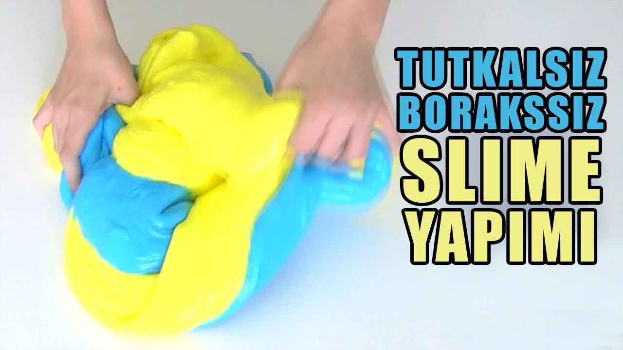 Tutkalsız Ve Borakssiz Slime Nasıl Yapılır Malzemeleri çocuk