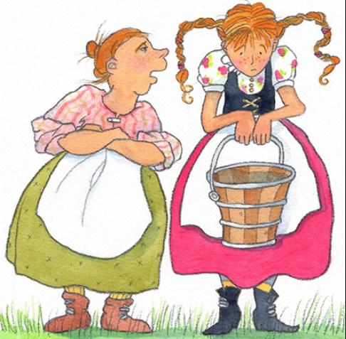 Sütçü kız ve güğümü masalı - dinle www.cocukgezegeni.com