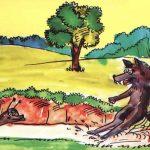 Salyangozun Kurt ile Yarisi Masalini Oku-Bir oyku Dinle-cocuk masali hayvan masallari kurt uyku masallari