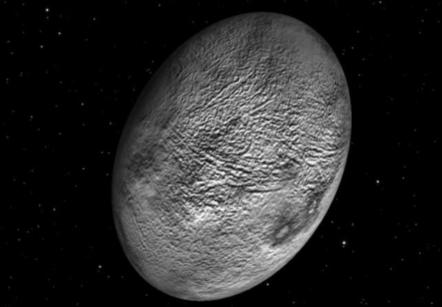 Haumea-cuce gezegen-parlak gezegen